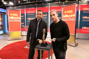 """Actor/recording artist Ludacris (L) and musician Peter Wentz (R) at the """"2015 Billboard Music Awards"""" Finalists Live Announcement on """"Good Morning America"""" at ABC News' Good Morning America Times Square Studio on April 7, 2015 in New York City."""