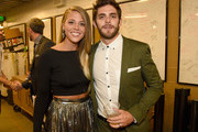 Lauren Gregory and Thomas Rhett attend the 2015 CMT Music awards at the Bridgestone Arena on June 10, 2015 in Nashville, Tennessee.