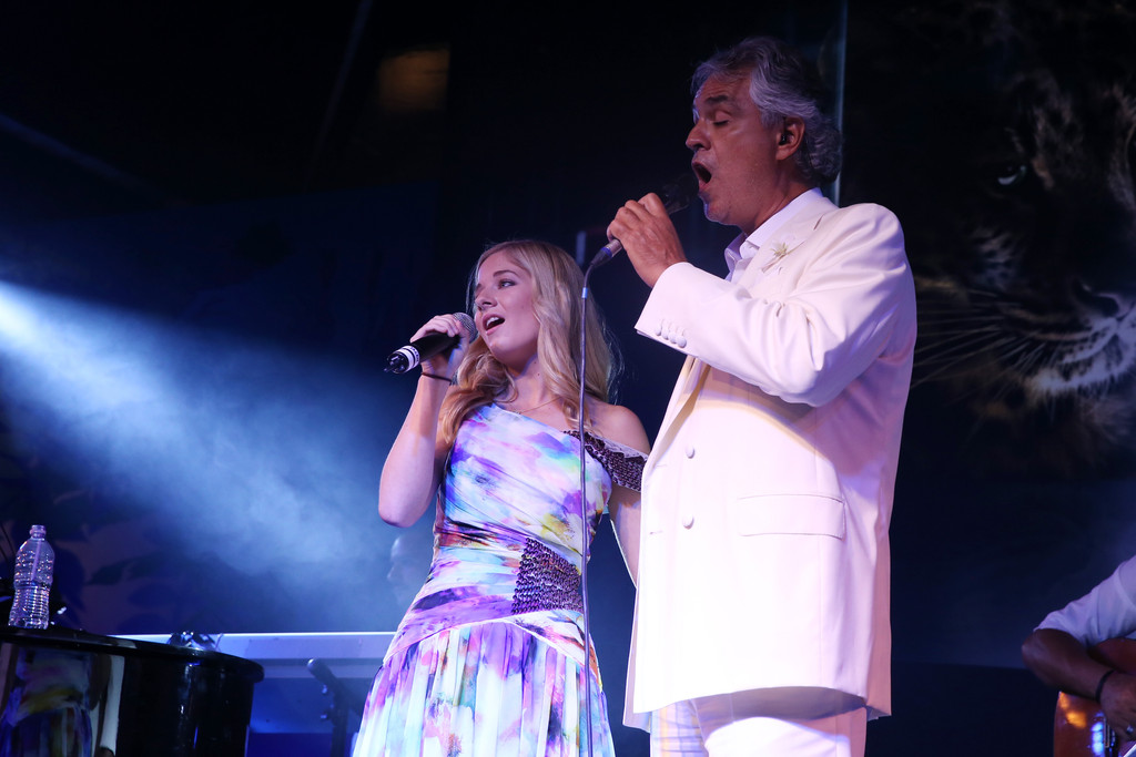 Singer Jackie Evancho attends the Celebrity Fight Night ...