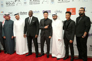 "(from third left) Actor Adewale Akinnuoye-Agbaje, producer RedOne, director Ayman Jamal, actor Jacob Latimore and director Khurram Alavi attend the ""Bilal"" premiere during day two of the 12th annual Dubai International Film Festival held at the Madinat Jumeriah Complex on December 10, 2015 in Dubai, United Arab Emirates."