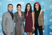 (L-R) Joe Lo Truglio, Chelsea Peretti, Melissa Fumero and Stephanie Beatriz attend the 2015 FOX programming presentation at Wollman Rink in Central Park on May 11, 2015 in New York City.