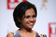 Miranda Tapsell poses in the awards room after winning a Logie for Most Popular New Talent and the Graham Kennedy Award For Most Outstanding Newcomer at the 57th Annual Logie Awards at Crown Palladium on May 3, 2015 in Melbourne, Australia.
