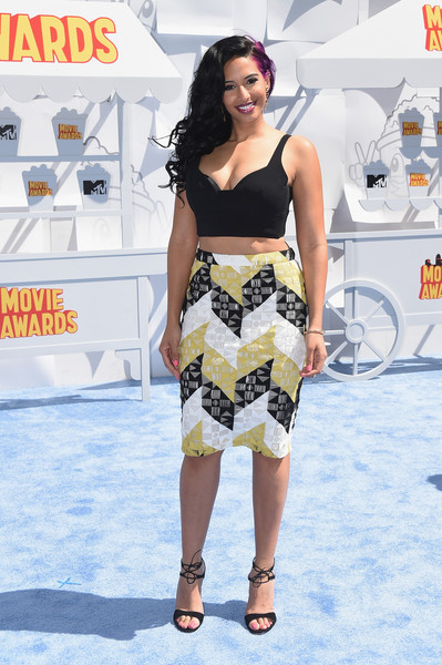 TV personality Nessa attends The 2015 MTV Movie Awards at Nokia Theatre L.A. Live on April 12, 2015 in Los Angeles, California.