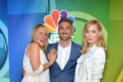 (L-R) Dr. Kathy Magliato, Dave Annable, and Melissa George attend The 2015 NBC Upfront Presentation at Radio City Music Hall on May 11, 2015 in New York City.