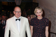 His Serene Highness Prince Albert II of Monaco and Her Serene Highness Princess Charlene of Monaco attend the 2015 Princess Grace Awards Gala With Presenting Sponsor Christian Dior Couture at Monaco Palace on September 5, 2015 in Monte-Carlo, Monaco.