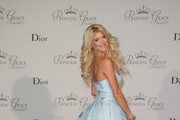 Victoria Silvstedt attends the 2015 Princess Grace Awards Gala With Presenting Sponsor Christian Dior Couture at Monaco Palace on September 5, 2015 in Monte-Carlo, Monaco.