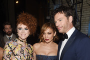 "Kiesza and Jennifer Lopez, who appear on ""Finding Neverland The Album,"" join Harry Connick Jr., and the cast of Finding Neverland backstage during the 2015 Tony Awards at Radio City Music Hall on June 7, 2015 in New York City."