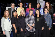 (Top L- R) Directors Louise Osmond, Danae Elon, Geeta Gandbhir, Sharmeen Obaid-Chinoy, Pietra Brettkelly (Below L - R) Jennifer Peedom, Mina Shum, Gillian Armstrong, Laurie Anderson and Barbara Kopple, Genevieve Dulude-De Celles attend Female Doc Filmmakers at TIFF during the 2015 Toronto International Film Festival at Maison Mercer on September 13, 2015 in Toronto, Canada.