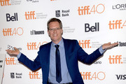 """TIFF moderator Thom Powers attends the """"Where to Invade Next"""" premiere during the 2015 Toronto International Film Festival at the Princess of Wales Theatre on September 10, 2015 in Toronto, Canada."""
