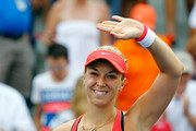 Sabine Lisicki of Germany celebrates after defeating Camila Giorgi of Italy during their Women's Singles Second Round match on Day Four of the 2015 US Open at the USTA Billie Jean King National Tennis Center on September 3, 2015 in the Flushing neighborhood of the Queens borough of New York City.