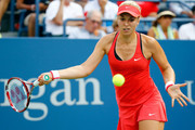 Sabine Lisicki of Germany returns a shot against Camila Giorgi of Italy during their Women's Singles Second Round match on Day Four of the 2015 US Open at the USTA Billie Jean King National Tennis Center on September 3, 2015 in the Flushing neighborhood of the Queens borough of New York City.