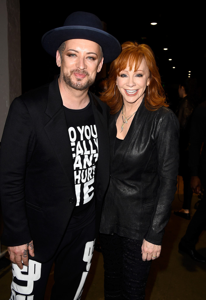 Reba mcentire and boy george photos zimbio for Who is reba mcentire married to now