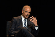 """Eric Holder, Former U.S. Attorney General attends the 2016 """"Tina Brown Live Media's American Justice Summit"""" at Gerald W. Lynch Theatre on January 29, 2016 in New York City."""