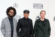 (L-R) Jillionaire, Walshy Fire and Diplo of musical group Major Lazer attend the 2016 American Music Awards at Microsoft Theater on November 20, 2016 in Los Angeles, California.