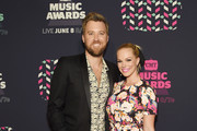 Singer-songwriter Charles Kelley of Lady Antebellum and Cassie McConnell attend the 2016 CMT Music awards at the Bridgestone Arena on June 8, 2016 in Nashville, Tennessee.