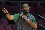 Head coach Robert Jones of the Norfolk State Spartans gestures to his players as they take on the Bucknell Bison during the 2016 Continental Tire Las Vegas Invitational basketball tournament at the Orleans Arena on November 24, 2016 in Las Vegas, Nevada. Bucknell won 84-58.