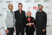 """Director Abdulla Al Kaabi (right) and guests attend the """"Only Men Go To The Grave"""" red carpet during day four of the 13th annual Dubai International Film Festival held at the Madinat Jumeriah Complex on December 10, 2016 in Dubai, United Arab Emirates."""
