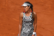 A dejected Ana Ivanovic of Serbia reacts during the Ladies Singles third round match against Elina Svitolina of Ukraine on day seven of the 2016 French Open at Roland Garros on May 28, 2016 in Paris, France.