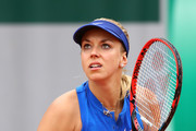 Sabine Lisicki of Germany in action during the Ladies Singles first round match against Veronica Cepede Royg of Paraguay on day two of the 2016 French Open at Roland Garros on May 23, 2016 in Paris, France.