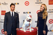 Bullseye the Target dog and actress/Miss USA 2015 Olivia Jordan attend the 2016 GLSEN Respect Awards - Los Angeles at the Beverly Wilshire Four Seasons Hotel on October 21, 2016 in Beverly Hills, California.