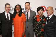Honorary Co-Chair Todd Spiewak, executive vice president and chief corporate social responsibility officer of Target Laysha Ward, honorart co-chairs Jim Parsons, Marilyn Katzenberg and Jeffrey Katzenberg attend the 2016 GLSEN Respect Awards - Los Angeles at the Beverly Wilshire Four Seasons Hotel on October 21, 2016 in Beverly Hills, California.