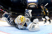 Roberto Luongo #1 of the Florida Panthers makes a save during the 2016 Honda NHL All-Star Final Game between the Eastern Conference and the Western Conference at Bridgestone Arena on January 31, 2016 in Nashville, Tennessee.