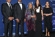 (L-R) Jackie Robinson Foundation Chairman Gregg Gonsalves, Christopher Dean, Jackie Robinson Foundation Founder Rachel Robinson, Jade Dean and Jackie Robinson Foundation President and CEO Della Britton Baeza pose for a photo at the 2016 Jackie Robinson Foundation Awards Dinner at Marriott Marquis Broadway Ballroom on March 7, 2016 in New York City.