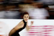 Ashley Wagner of Team North America competes in the Ladies Singles Short Program on day 1 of the KOSE Team Challenge at Spokane Arena on April 22, 2016 in Spokane, Washington.