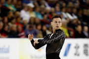 Adam Rippon of Team North America competes in the Men's Singles Short Program on day 1 of the KOSE Team Challenge at Spokane Arena on April 22, 2016 in Spokane, Washington.