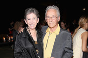 Beth Rudin DeWoody (L) and artist Ed Ruscha attend 2016 LACMA Art + Film Gala honoring Robert Irwin and Kathryn Bigelow presented by Gucci at LACMA on October 29, 2016 in Los Angeles, California.