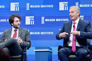 Michael Weiss (L) and former British Prime Minister Tony Blair speak onstage during 2016 Milken Institute Global Conference at The Beverly Hilton on May 03, 2016 in Beverly Hills, California.