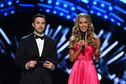 Nick Teplitz (L) and Miss USA 2015 Olivia Jordan host the 2016 Miss USA pageant preliminary competition at T-Mobile Arena on June 1, 2016 in Las Vegas, Nevada. The 2016 Miss USA will be crowned on June 5 in Las Vegas.