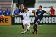 Jill Scott #8 of England fight for the ball with Amel Majri #22 of France during a match against  in the 2016 SheBelieves Cup at FAU Stadium on March 9, 2016 in Boca Raton, Florida.