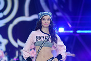Luma Grothe walks the runway during the 2016 Victoria's Secret Fashion Show on November 30, 2016 in Paris, France.
