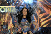 Bella Hadid walks the runway during the 2016 Victoria's Secret Fashion Show on November 30, 2016 in Paris, France.