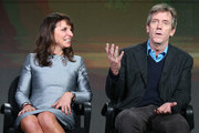 (L-R) Executive Produce/Director Susanne Bier and actor Hugh Laurie speak onstage during The Night Manager panel as part of the AMC Networks portion of This is Cable 2016 Television Critics Association Winter Tour at Langham Hotel on January 8, 2016 in Pasadena, California.