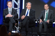 """(L-R)  Vice President of Programming for CBS News and Executive Producer of """"CBS This Morning"""" Chris Licht, Co-Host """"CBS This Morning"""" Charlie Rose and President CBS News David Rhodes speak onstage during the """"CBS This Morning"""" (Part 1) panel discussion at the CBS/ShowtimeTelevision Group portion of the 2015 Winter TCA Tour at the Langham Huntington Hotel on January 12, 2016 in Pasadena, California."""