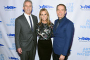 Robert  Kennedy Jr., Cheryl Hines and Jeff Koons attend the 2017 Art For Water To benefit Waterkeeper Alliance at Sotheby's on February 6, 2017 in New York City.