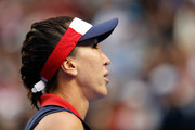 Jelena Jankovic of Serbia looks on in her third round match against Svetlana Kuznetsova of Russia on day five of the 2017 Australian Open at Melbourne Park on January 20, 2017 in Melbourne, Australia.