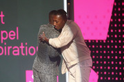 Lecrae accepts the Dr. Bobby Jones Best Gospel/Inspirational Award for 'Can't Stop Me Now (Destination)' from Kofi Siriboe onstage at 2017 BET Awards at Microsoft Theater on June 25, 2017 in Los Angeles, California.