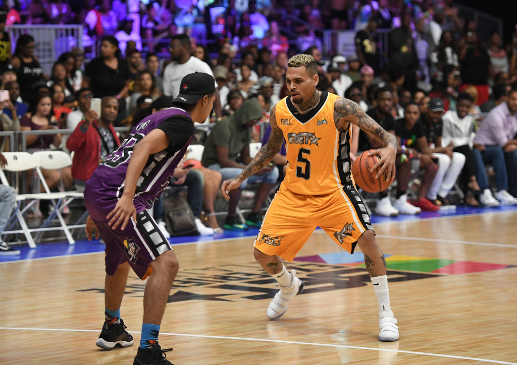Chris Brown & GAME Co-MVPs of BET Celebrity Basketball ...