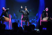 Rapper Nicki Minaj (C) performs onstage during the 2017 Billboard Music Awards at T-Mobile Arena on May 21, 2017 in Las Vegas, Nevada.