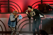 Rappers Da Brat (L) and Slick Rick (R) perform onstage at the 2017 Black Music Honors at Tennessee Performing Arts Center on August 18, 2017 in Nashville, Tennessee.