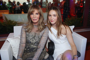 Jaclyn Smith and her daughter attend the Rooftop Dinner at the Waldorf Astoria Hotel Cavalieri as part of the 2017 Celebrity Fight Night in Italy Benefiting The Andrea Bocelli Foundation and the Muhammad Ali Parkinson Center on September 6, 2017 in Rome, Italy.