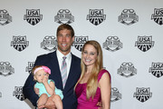 Swimmer Matt Grevers and family attend the 2017 USA Swimming Golden Goggle Awards at J.W. Marriott at L.A. Live on November 19, 2017, in Los Angeles, California.
