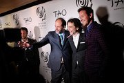 Luca Guadagnino, Timothee Chalamet and Armie Hammer attend the 2017 New York Film Critics Awards at TAO Downtown on January 3, 2018 in New York City.