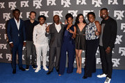 (L-R) Actor Damson Idris, co-creator/executive producer Dave Andron, actor Isaiah John, co-creator/executive producer John Singleton and actors Angela Lewis, Emily Rios, Michael Hyatt and Amin Joseph attend the FX 2017 Summer TCA Tour at The Beverly Hilton Hotel on August 9, 2017 in Beverly Hills, California.