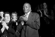 "image has been shot in black and white. Color version not available.) Actor Sidney Poitier attends the 50th anniversary screening of ""In the Heat of the Night"" during the 2017 TCM Classic Film Festival on April 6, 2017 in Los Angeles, California. 26657_003"