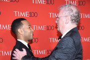 Musician John Legend (L) and Howard Stringer attend the 2017 Time 100 Gala at Jazz at Lincoln Center on April 25, 2017 in New York City.