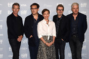 "(L-R) Actor Stephen Dillane, director Joe Wright, actors Kristin Scott Thomas, Gary Oldman and screenwriter Anthony McCarten speak onstage at ""Darkest Hour"" press conference during 2017 Toronto International Film Festival at TIFF Bell Lightbox on September 11, 2017 in Toronto, Canada."